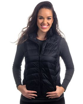 Seven Seventy Puffer Jacket Sleeveless in Black - Banana Design