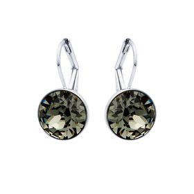 Civetta Spark Miki Drop Earrings With Swarovski Black Diamond Crystals