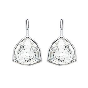 Civetta Spark Trillion Cut Earrings With Clear Swarovski Crystals