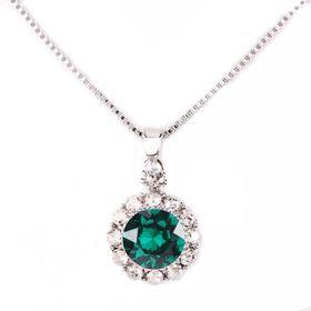 Civetta Spark Brilliance Pendent With Swarovksi Crystal In Emerald