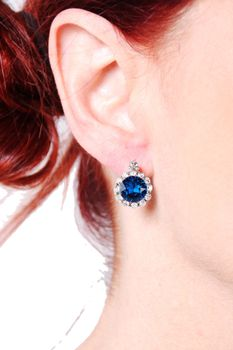Civetta Spark Brilliance Earrings With Swarovksi Crystal In Capri Blue