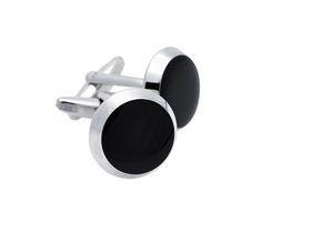 Art Jewellers Stainless Steel Gents Round Cufflinks - Black