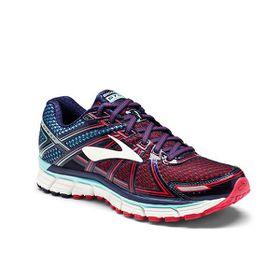 Brooks Women's Adrenaline GTS 17 Running Shoes - Limpet Shell, Evening Blue & Virtual Pink