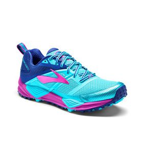Brooks Women's Cascadia 12 Trail Running Shoes - Bluefish, Clematis Blue & Purple Cactus Flower