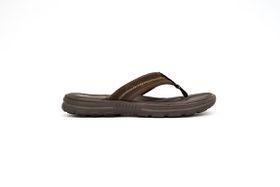 Skechers Men's Bravelen Seleno Flip Flops - Dark Brown
