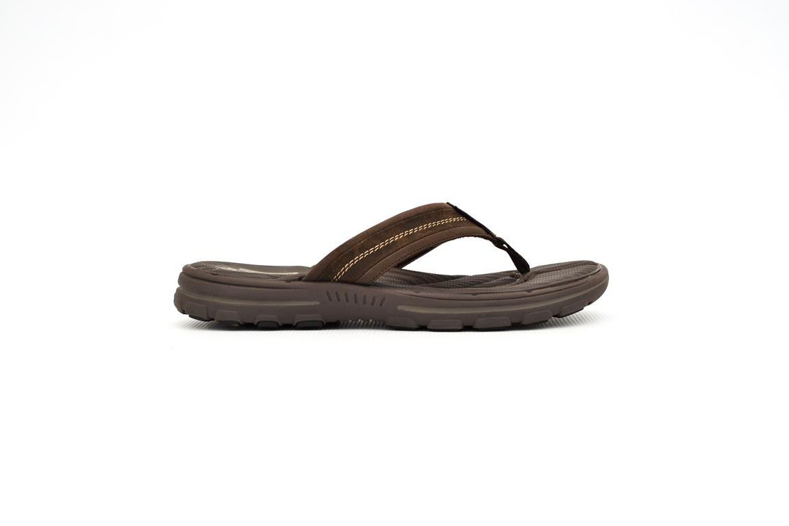 Skechers Men's Bravelen Seleno Flip Flops - Dark Brown ...