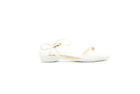 Woman's Ankle Strap Slip On - White