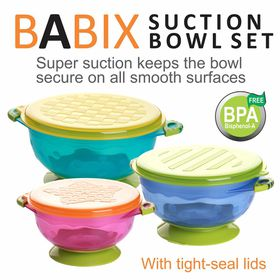 Babix - Suction Bowl Set - 3 Pack
