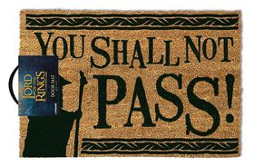 Lord Of The Rings - You Shall Not Pass Door Mat (Parallel Import)