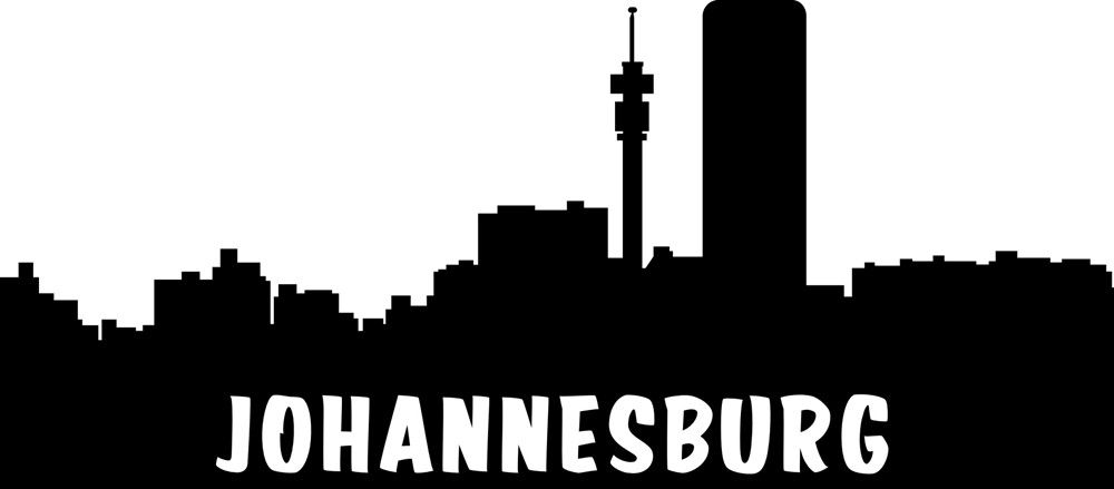 Vinyl lady decals johannesburg skyline cityscape wall art sticker black