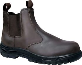 Dot Safety Shoe Boot - Chelsea Brown
