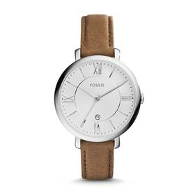 Fossil Ladies Jacqueline Brown Leather Strap Watch - ES3708