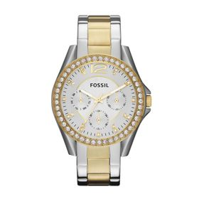 Fossil Ladies Riley Gold & Silver-Tone Stainless Steel Watch - ES3204