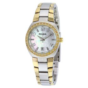 Fossil Ladies Serena Gold & Silver Stainless Steel Strap Watch - AM4183