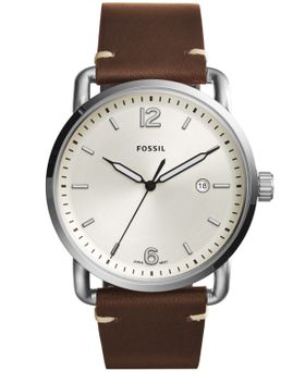 Fossil Men's Commuter Brown Leather Strap Watch - FS5275