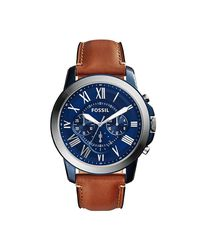 2cb2ebd39cfd Fossil Men s Grant Light Brown Leather Strap Watch - FS5151