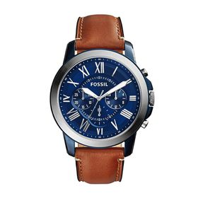Fossil Men's Grant Light Brown Leather Strap Watch - FS5151