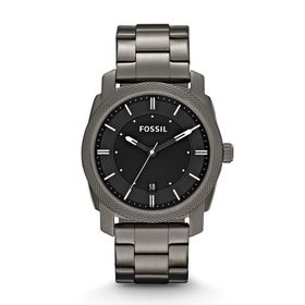 Fossil Men's Mid Smoke Stainless Steel Strap Watch - FS4774