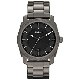 Fossil Men's Mid Smoke Stainless Steel Strap Watch - FS4774