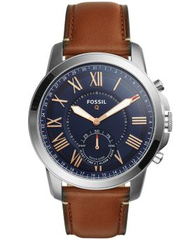 Fossil Men's Q Grant Brown Leather Strap Watch - FTW1122