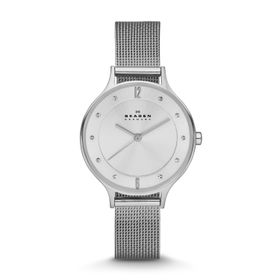 Skagen Ladies Anita Silver Stainless Steel Strap Watch - SKW2149
