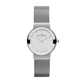Skagen Ladies Freja Silver Stainless Steel Strap Watch - 358SSSD