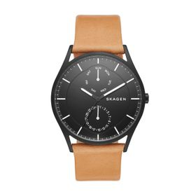 Skagen Men's Holst Light Brown Leather Strap Watch - SKW6265