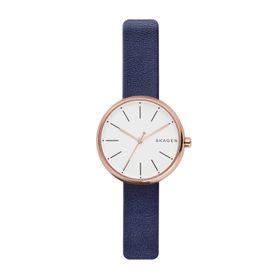 Skagen Ladies Signatur Blue Leather Strap Watch - SKW2592