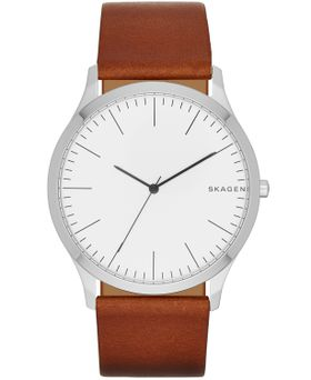 Skagen Men's Jorn Light Brown Leather Strap Watch - SKW6331