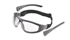 Elvex Go-Specs II with Anti-Fog Lens & Black Frame - Clear