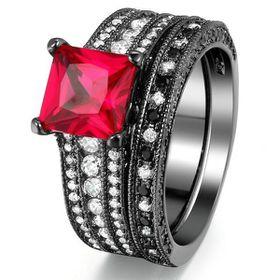 Yeoman Stunning 3.5ct Simulated Diamond Wedding Ring Set