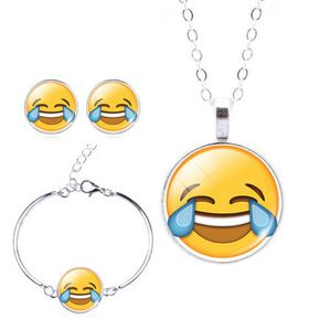 Crying with Laughter Charm Bracelet, Earring & Pendant Set