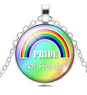 Rainbow Pride Not Prejudice Pendant & Necklace