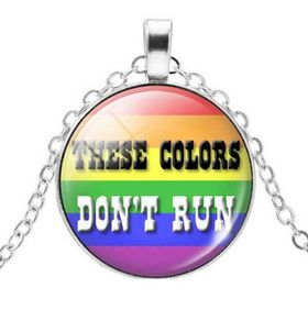 Rainbow These Colours Don't Run Pendant & Necklace