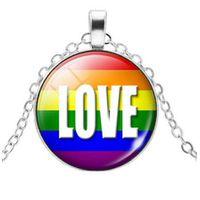 Rainbow Love Pendant & Necklace