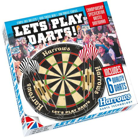 Harrows Let S Play Darts Game Dartboard Set Buy Online In South