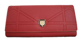 Fino Ladies Wine Red PU Leather Purse