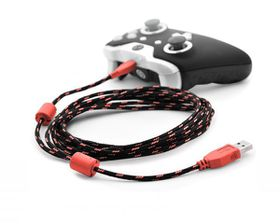 Xbox One / PS4 3 Metre Braided Charging Cable - Red