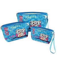 Owl Cosmetic Bag Set Of 3