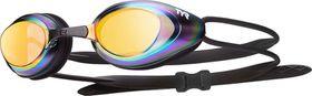 TYR Black Hawk Mirrored Racing Goggles - Gold/Metal Rainbow