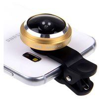 Universal Smartphone 235' Fisheye Lens Clip - Gold