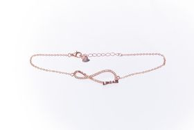 Licious Kaytlyn Rose Gold Infinity Bracelet