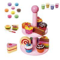 Cupcake Stand Includes Macrons Yoghurt & Hamburger Set