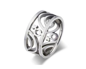 Miss Jewels Stainless Steel Wedding Band