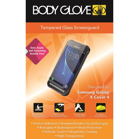 buy popular 1ebc1 e76b6 Body Glove Tempered Glass Screen Protector for Samsung Galaxy Xcover 4 -  Clear