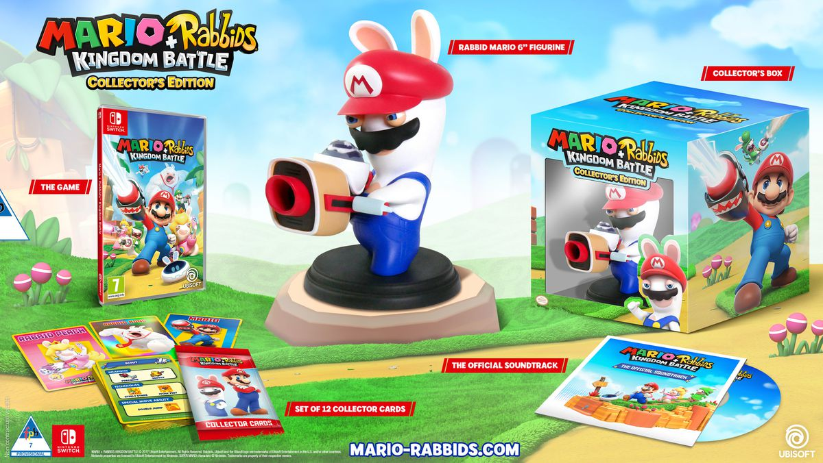 Image result for Nintendo Switch Mario + Rabbids Kingdom Battle Collector's Edition