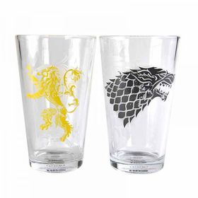 Game of Throne Stark And Lanister Glasses - Set of 2 (Parallel Import)