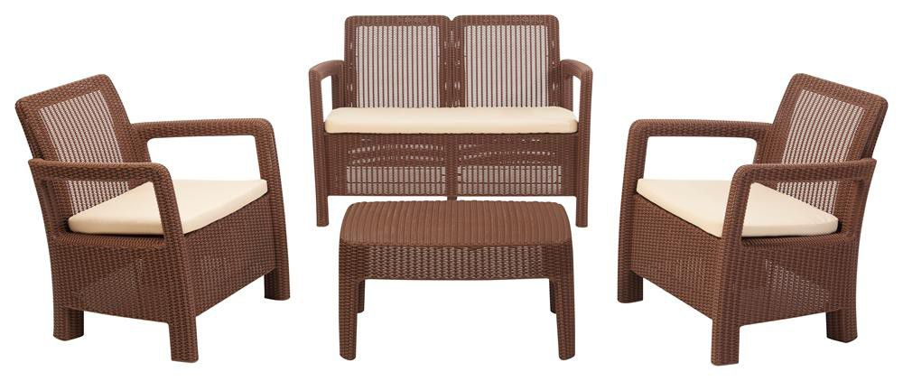 keter allibert hawaii lounge set brown buy online in south africa. Black Bedroom Furniture Sets. Home Design Ideas