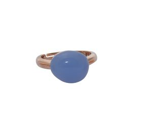 Art Jewellers sVogue Silver Rose Gold Plated & Cabuchon Cut Gemstone Ring Z4093 - Lavender Blue
