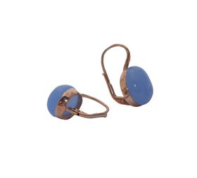 Art Jewellers sVogue Silver Rose Gold Plated Earrings With Cabuchon Cut Gemstones Z4099 - Lavender Blue